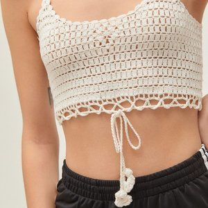 NWT Out from Under Crochet Crop Tank Top UO Sz L